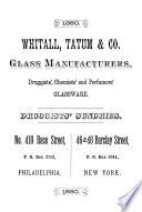 Druggists  Chemists  and Perfumers  Glassware