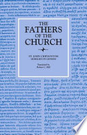 Homilies On Genesis 46 67 The Fathers Of The Church Volume 87