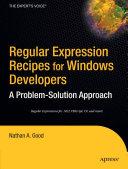 Regular Expression Recipes for Windows Developers