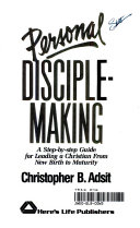 Personal Disciplemaking Book