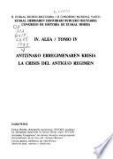 Euskal Herriaren Historiari Buruzko Biltzarra: Antzinako Erregimenaren krisia