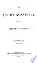 The Baptist Quarterly Book PDF