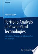 Portfolio Analysis of Power Plant Technologies Book