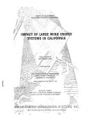 Impact of Large Wind Energy Systems in California