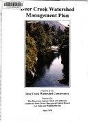 Deer Creek Watershed Management Plan