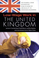 Low Wage Work in the United Kingdom