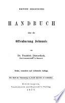 Kritisch exegetisches Handbuch über die Offenbarung Johannis
