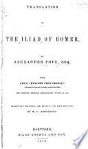 Translation of the Iliad of Homer