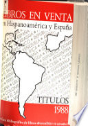 Libros en venta en Hispanoamérica y España  , Band 2
