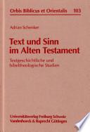 Text und Sinn im Alten Testament