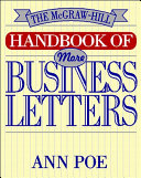 Pdf The McGraw-Hill Handbook of More Business Letters Telecharger