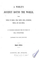 A Woman s Journey Round the World     Book