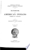 Handbook of American Indians North of Mexico: N-Z