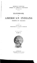 Handbook of American Indians North of Mexico  N Z