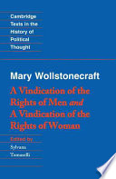 Wollstonecraft A Vindication Of The Rights Of Men And A Vindication Of The Rights Of Woman And Hints