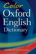 Color Oxford English Dictionary Book