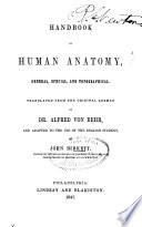 Handbook of Human Anatomy  General  Species and Topographical