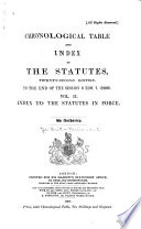 Chronological Table of and Index to the Statutes to the End of the Session of ...
