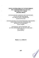 Liste systématique et synonymique des Lépidoptères de France, Belgique et Corse