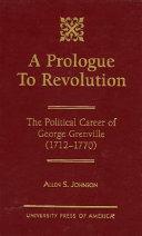 A Prologue to Revolution