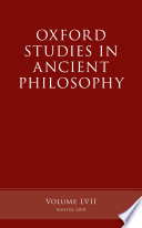 Oxford Studies in Ancient Philosophy Book