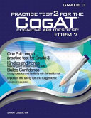 Practice Test 2 for the Cogat   Form 7   Grade 3  Level 9  Book