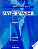 Mathematics, Student Solutions Manual