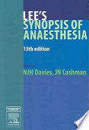 """Lee's Synopsis of Anaesthesia"" by N. J. H. Davies, Jeremy N. Cashman"