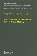 Developments of International Law in Treaty Making