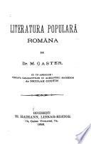 Literatura populara romana...