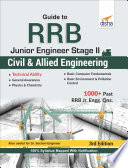 """""""Guide to RRB Junior Engineer Stage II Civil & Allied Engineering 3rd Edition"""" by Disha Experts"""