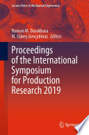 Proceedings of the International Symposium for Production Research 2019