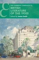 The Cambridge Companion to British Literature of the 1930s