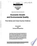 Economic Growth and Environmental Quality