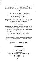 Histoire Secrete de La Revolution Francoise