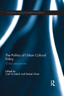 Pdf The Politics of Urban Cultural Policy Telecharger