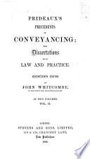 Prideaux's Precedents in Conveyancing