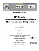 Proceedings of the     Biennial University Government Industry Microelectronics Symposium