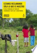 """Paraguay. """"Estamos reclamando sólo lo que es nuestro"""". Comunidades indígenas Yakye Axa y Sawhoyamaxa"""