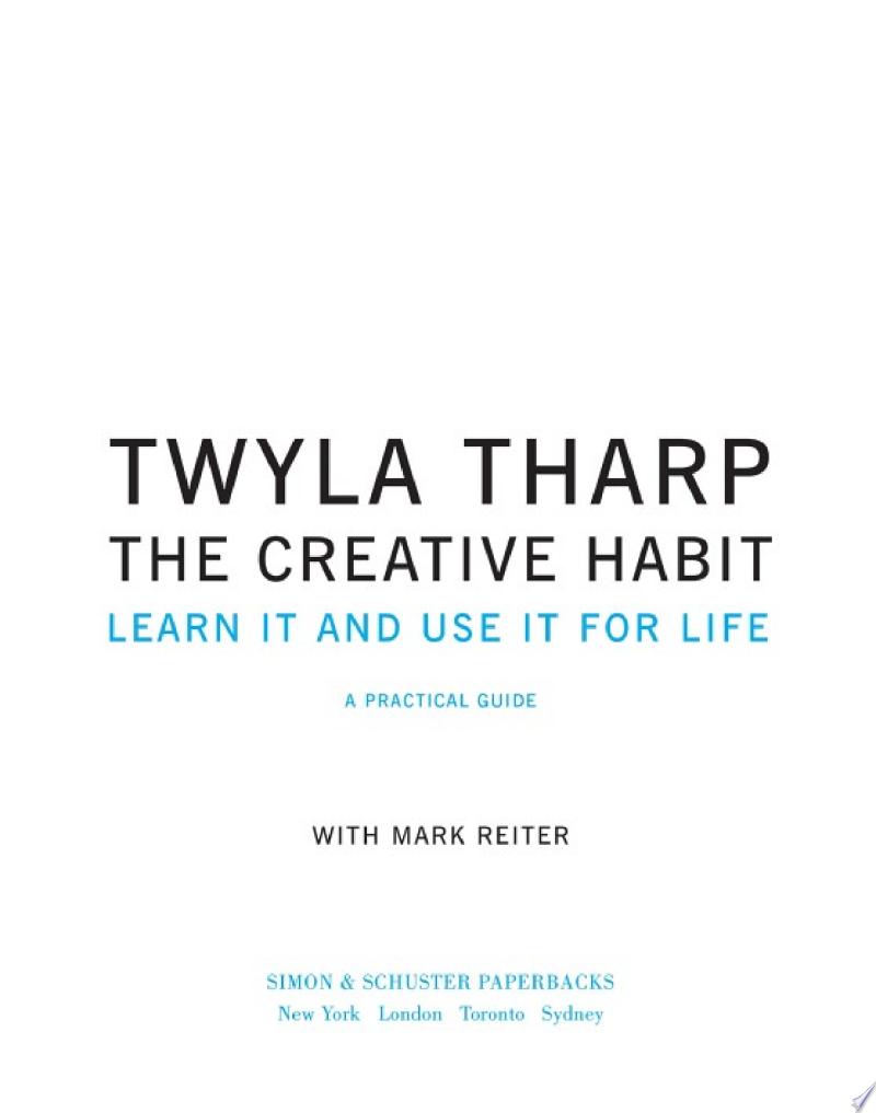 The Creative Habit image