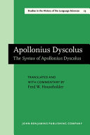 The Syntax of Apollonius Dyscolus