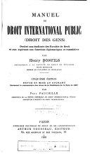 Manuel de droit international public (droit des gens)