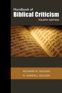 Handbook Of Biblical Criticism Fourth Edition