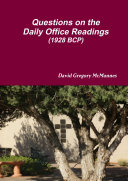 Questions on the Daily Office Readings  1928 BCP
