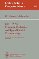 ECOOP  92  European Conference on Object Oriented Programming