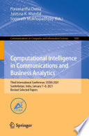 Computational Intelligence in Communications and Business Analytics Book