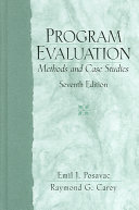 Cover of Program Evaluation