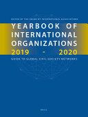 Yearbook Of International Organizations 2019 2020 6 Vols