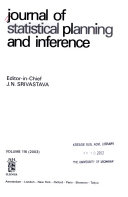 Journal of Statistical Planning and Inference Book