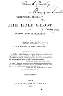 The Temporal Mission of the Holy Ghost     Second Edition